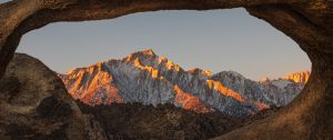 9017 Tom Pallesen     Lone Pine Peak through Mobius Arc