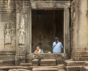 7714 Finn Elmgaard     Guard With Son at Angkor Wat