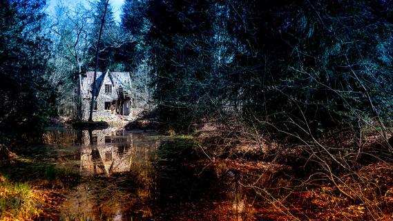Flintehuset, Horsteved skov, april2019