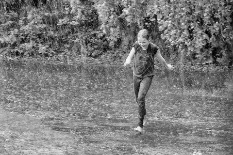 regnvejr i Mölndal.