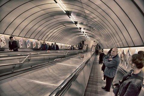 Underground i Euston, London.