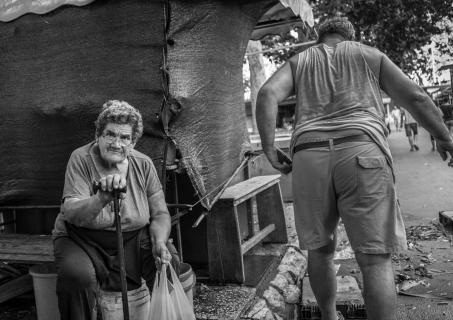 Kroatisk torvehandlere går hjem
