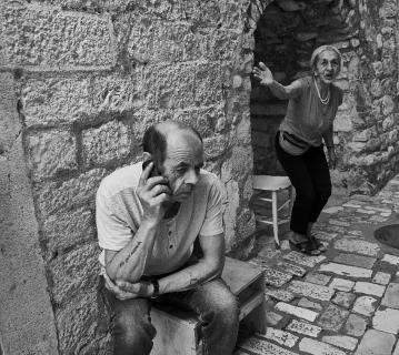 Livet i en sidegade i Trogir