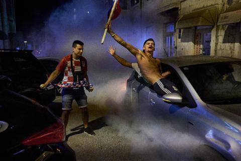 Fejring. Kroatien er i VM finalen