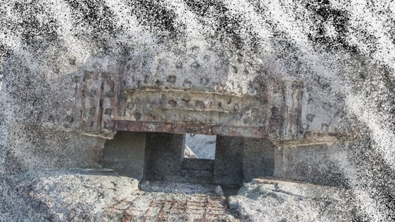 Bunker i sandet