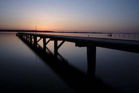 Solnedgang over Roskilde fjord