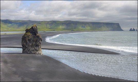 Klippe ved kyst