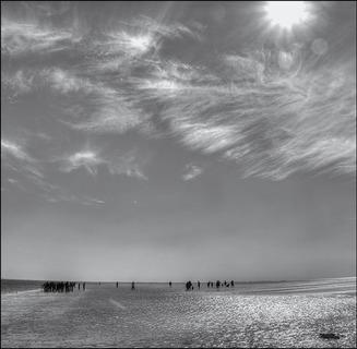 Mennesker på strand